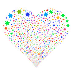 fireworks star fireworks heart vector image
