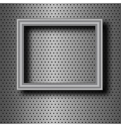 Frame on metal vector