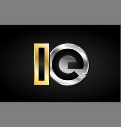 Gold silver letter joint logo icon alphabet design vector