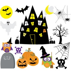 Halloween Elements set vector image