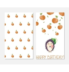 Happy birthday stylish inspiration card in cute vector