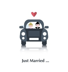 Lesbian marriage icon vector