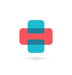 Letter h cross plus logo icon design template vector