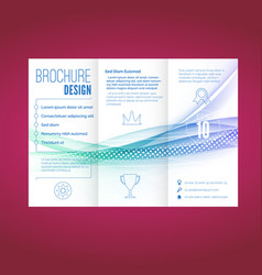 light swoosh wave line abstract brochure document vector image vector image