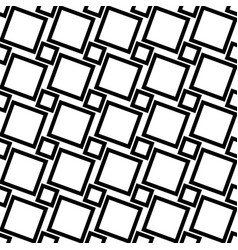 Monochrome abstract seamless geometric square vector