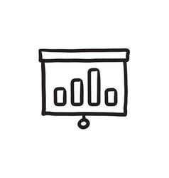 Projector roller screen sketch icon vector