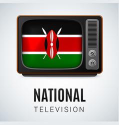 Round glossy icon of kenya vector