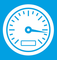Speedometer icon white vector