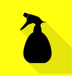 Spray bottle for cleaning sign black icon with vector