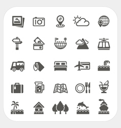 Travel and Vacation icons set vector image