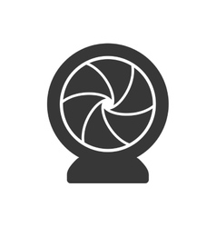 Shutter silhouette icon camera design vector