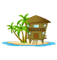 Bungalow on the island vector