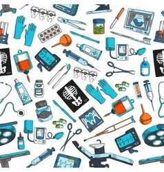 Medical items tools seamless pattern vector