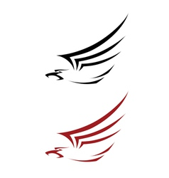 tattoo hawk vector image