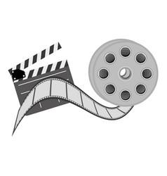 color clapper board film and film production icon vector image
