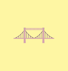 Metal cable suspension bridge modern bridge vector
