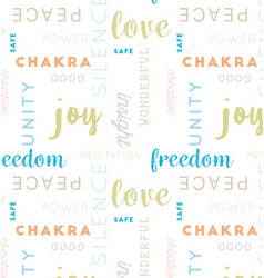Seamless type pattern meditation color vector