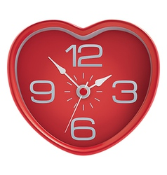 Heart shaped clock vector image