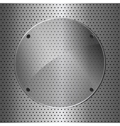 Metal and glass circle vector