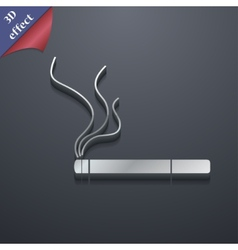 Smoking icon symbol 3D style Trendy modern design vector image
