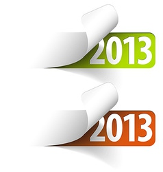 2013 new year stickers vector