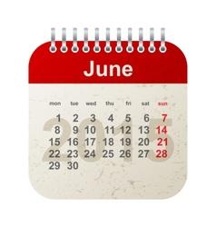 calendar 2015 - june vector image