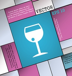 Glass of wine icon sign modern flat style for your vector