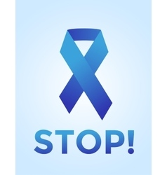 Stop cancer medical poster concept vector