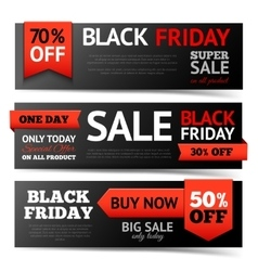 Black friday banner set vector
