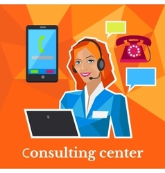 Consulting center flat design concept vector