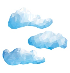 Set of clouds in the style of low poly vector