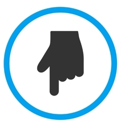 Down index finger icon vector