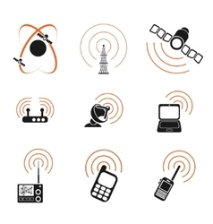 Radio signal simple icons vector