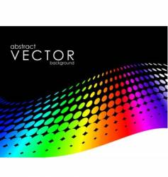 Abstract background with rainbow circl vector