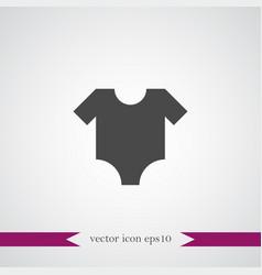Baby cloth icon simple vector