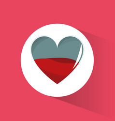 Blood heart health symbol vector