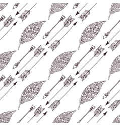 Boho hand drawn doodle seamless pattern eps10 vector