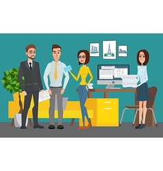 Business professional work team shared working vector