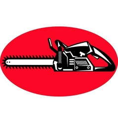 Chainsaw sideview vector