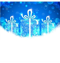 Christmas banner with gift vector