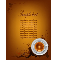 Coffee cup on background with spots vector