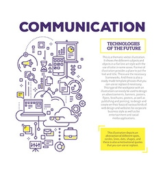 Creative concept of communication with heade vector