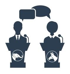 Debate of republican vs democrat vector