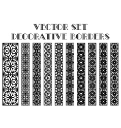 decorative borders vector image vector image