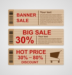 Discount sale banners vector image vector image