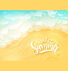 Hand lettering summer inspirational label - vector