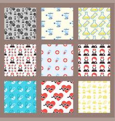 health medical emergency seamless pattern vector image