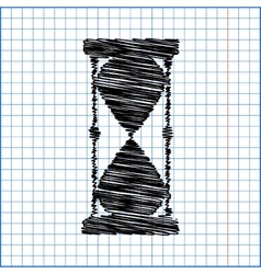 Hourglass with pen effect vector image