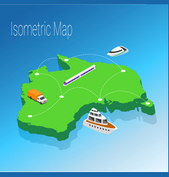 Map australia isometric concept vector