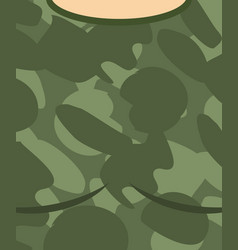 military torso soldier chest army clothes vector image vector image